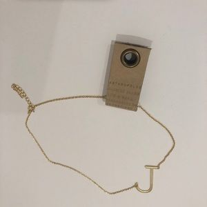 Anthropologie Initial Necklace - J